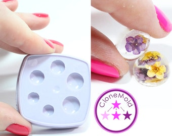 Small Circle Cabochon or Earring Silicone Rubber Mold; 8 mm, 10 mm, 12 mm