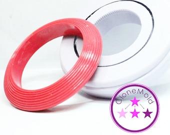 Bangle Mold Ribbed Bracelet Silicone Mold