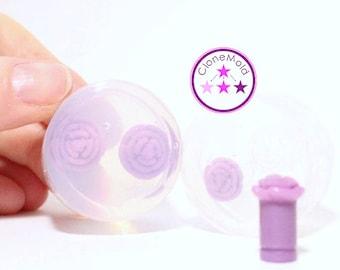 Plug Gauge Mold Rose Flower  Ear Plug Piercing Silicone Rubber Mold