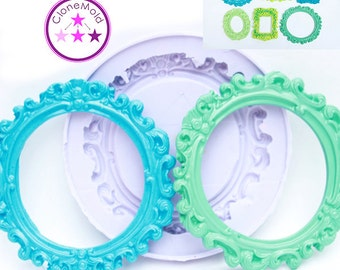 Frame Mold Circle Large Round Frame; Silicone Rubber;