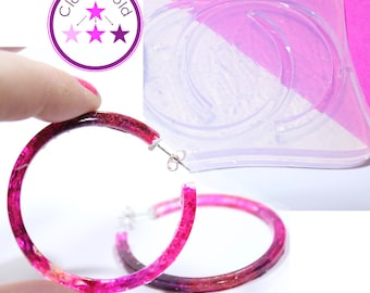 Thin Large Hoop Mold Earring Silicone Rubber Mold