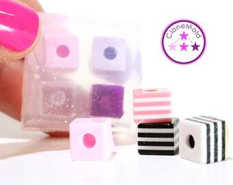 Cube Bead Mold Small Square Silicone Rubber; 8 mm