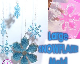 Large Snowflake Ornament Mold; Silicone Rubber