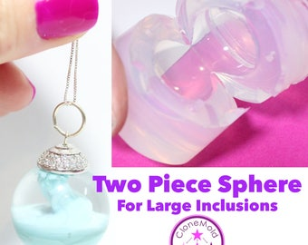 Sphere Mold Ball 2 Piece Silicone Rubber Mold 22/25/27 mm