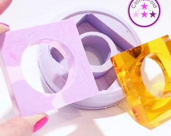 Napkin Ring Mold Square Silicone Rubber