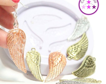 Angel Wings Mold Pendant or Earring Silicone Rubber Mold