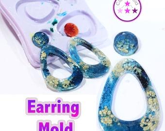 Teardrop Earring Mold 4 Piece Dangle Silicone Rubber Mold