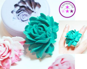 Lotus Cabochon Mold Silicone Rubber