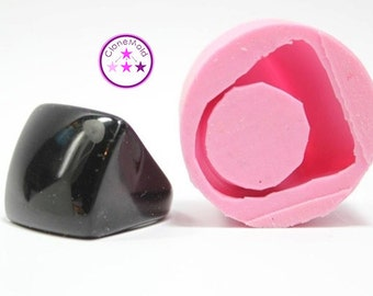 Ring Mold Cube Rounded Square ; Silicone Rubber; Size 7