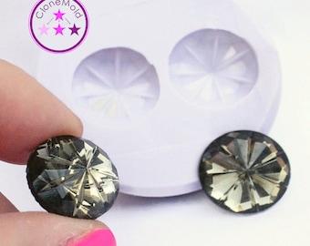 Silicone Round Jewel Cabochon Mold Silicone Rubber