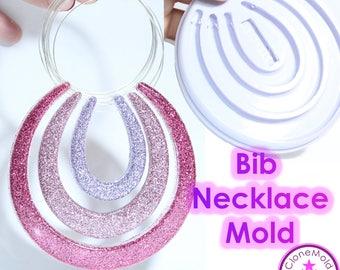 Bib Necklace Mold Semicircle Round Bib Silicone Rubber Mold