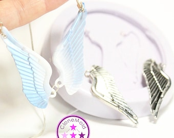 Angel Wings Mold Pendant/Earring Large Silicone Rubber Mold