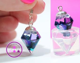 Crystal Pendulum Pendant Earring Mold Silicone Rubber