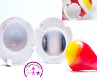 Ring Mold Bubble Dome 2 Piece Large ; Silicone Rubber; Size 6.75, 7, 9