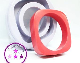 Bangle Mold Thin Rounded Square Bracelet Mold