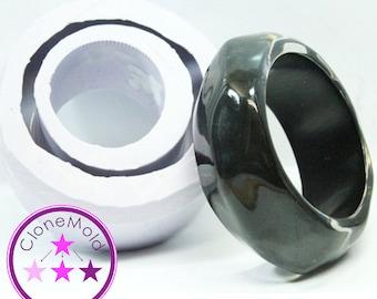 Bangle Mold Large Chunky Angled Bracelet Silicone Rubber Mold