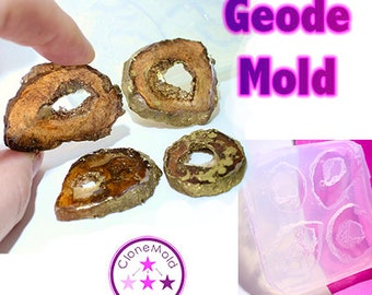 Geode Mold Pendant Jewel Crystal Rock Silicone Rubber Mold