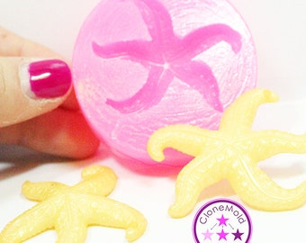 Star Fish Jewel Cabochon Silicone Rubber Mold