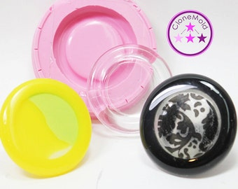 Chunky Round Lipped Cabochon Silicone Rubber Mold