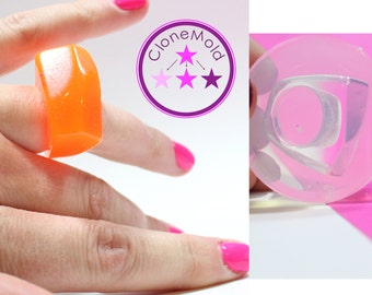 Rubber Ring Mold Abstract Angled ; Silicone Rubber; Size 6.75
