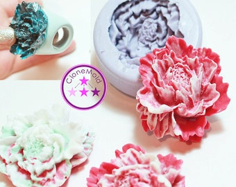 Flower Cabochon Mold Silicone Rubber