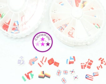 CLEARANCE Polymer Clay Mini Flags