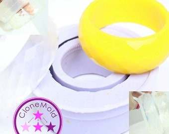 Bangle Mold Thin Facetted Bracelet Silicone Rubber Mold