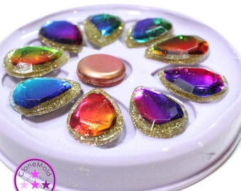 Pendant Earring Mold Diamond Teardrop Facetted Waterfall Mold Silicone Rubber