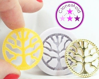 Tree of Life Mold Pendant or Earring Silicone Rubber Mold