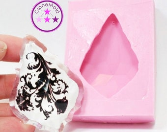 Crystal Chandelier Prism Mold Large Beveled Pendant Silicone Rubber Mold