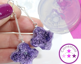 X Cross Jewel Mold Earring Silicone Rubber Mold