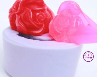 Ring Mold Flower Rose Mini Vintage Style ; Silicone Rubber; Size 6.5