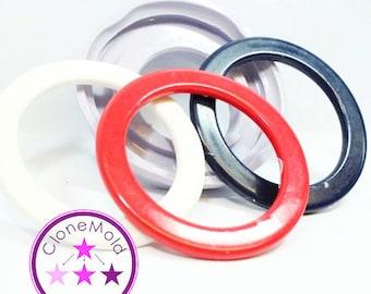 Bangle Mold Thin Flat Disc Round Bracelet Mold