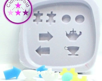 Stud Mold  Earring Weird and Random Earring Silicone Rubber Mold