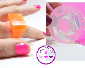 Ring Mold Flat Angled ; Silicone Rubber; Size 9.25
