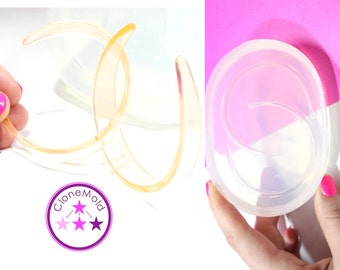 Extra Large Hoop Earring Mold Silicone Rubber