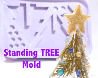 Standing Holiday Tree Ornament Mold; Silicone Rubber