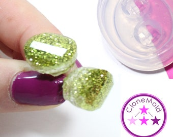 Circle Jewel Stud Earring Silicone Rubber Mold