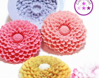 Mum Flower Cabochon Mold Silicone Rubber