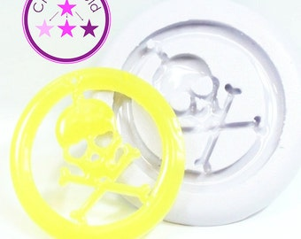 Pirate Skull and Cross Bones Earring/Pendant Mold Silicone Rubber