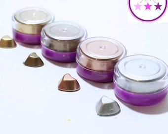 Metallic Powder Resin Pigment; Silver, Gold, Copper, Bronze; Faux Pigment; Metal