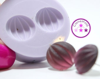 Beach Ball Stud Mold Matte Jewel Earring/Cabochon Silicone Rubber Mold; 15 mm