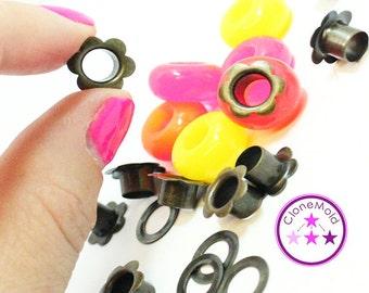 Metal Flower Grommet Jewellery Bead Eyelet  (6 mm)