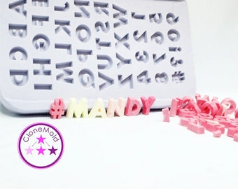 Letter Mold Alphabet Silicone Rubber