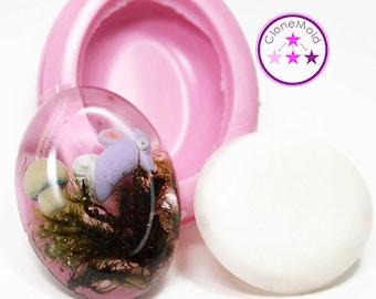 Big Oval Cabochon or Pendant Silicone Rubber Mold