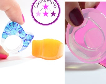 Ring Mold Wave Shape ; Silicone Rubber; Size 7.5