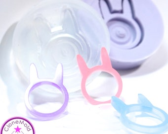 Ring Mold Bunny Rabbit Ear Band ; Silicone Rubber; Size 6, 7, 8, 9, 10