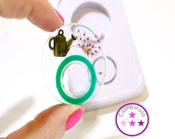 Ring Mold Two Piece Circle Double ;Silicone Rubber;  One Size; Size 5