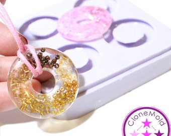Bead Mold Large Doughnut Shaped Flat Silicone Rubber