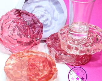 Rose Coaster Mold Large Round Silicone Rubber